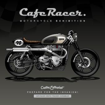 Vintage aangepaste motorfiets poster