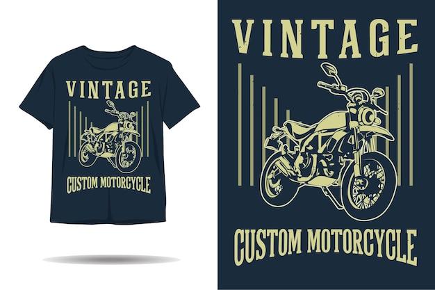 Vintage aangepaste motorfiets t-shirt ontwerp