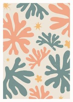 Vintage abstracte matisse geïnspireerde print voor wanddecoratie