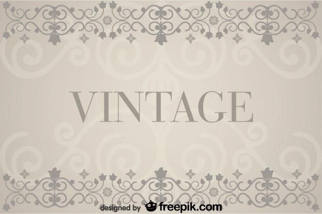 Vintage achtergrond met florale retro decoraties