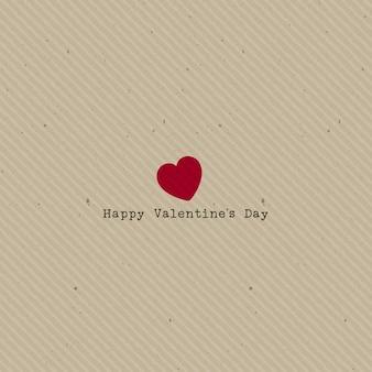 Vintage achtergrond valentijnsdag met hart op karton textuur