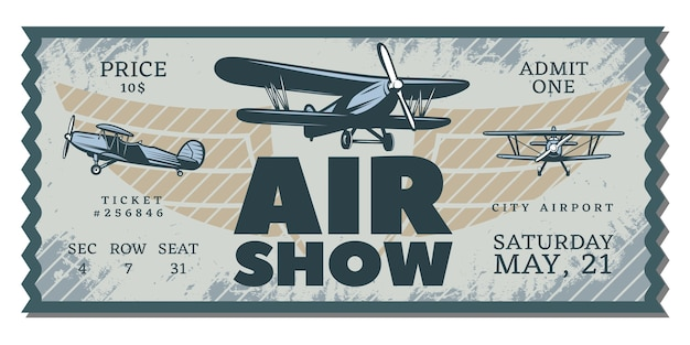 Vintage air show pass-ticket