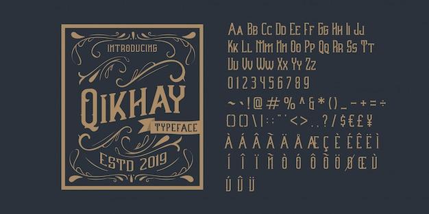 Vintage alfabet lettertype