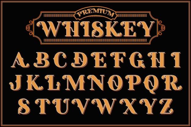 Vintage alfabet met een tekstcompositie