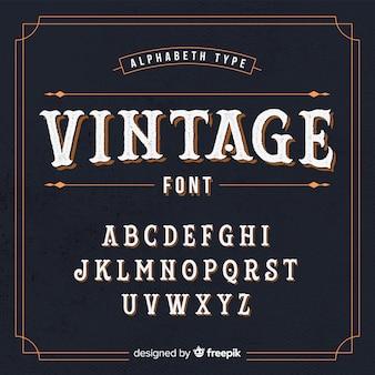 Vintage alfabet