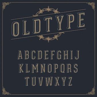 Vintage alfabetontwerp