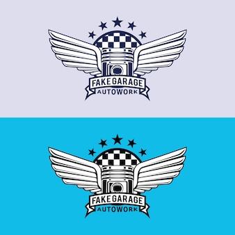 Vintage auto garage logo