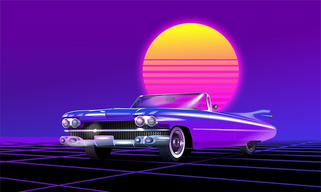 Vintage auto illustratie