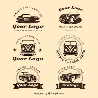 Vintage auto logo-collectie