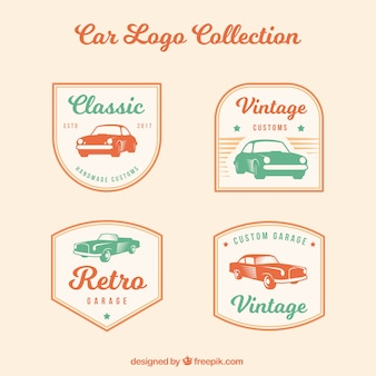 Vintage auto logo pack