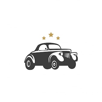 Vintage auto-ontwerp