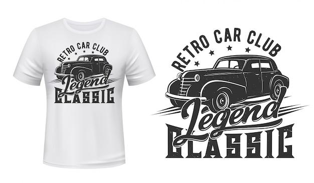Vintage auto voor t-shirt print