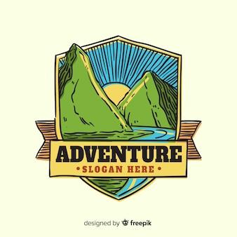 Vintage avonturenlogo