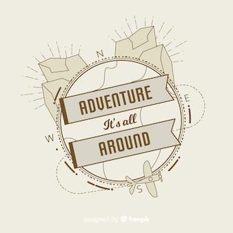 Vintage avontuur logo sjabloon