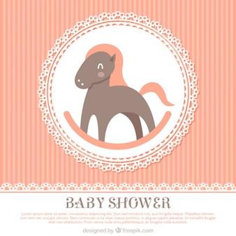 Vintage baby shower achtergrond