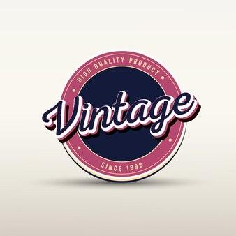 Vintage badge-logo en labelsjabloon met tekststijleffect