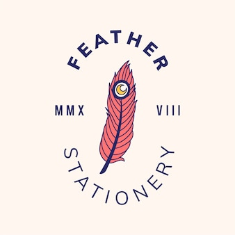 Vintage badge logo met tekst ontwerp vector