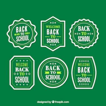 Vintage badges terug naar school