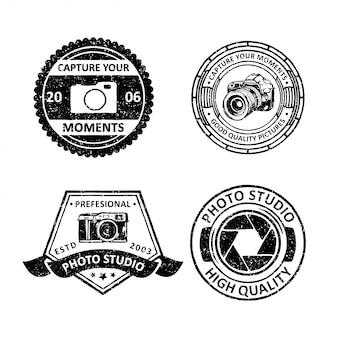 Vintage badges van fotografie