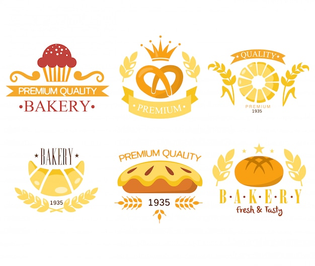 Vintage bakkerij etiketten