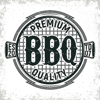 Vintage barbecue restaurant logo