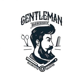 Vintage barber shop-logo