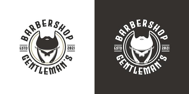 Vintage barbershop logo inspiratie
