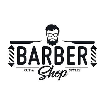 Vintage barbershop logo sjablonen