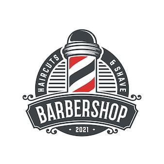 Vintage barbershop logo sjabloon