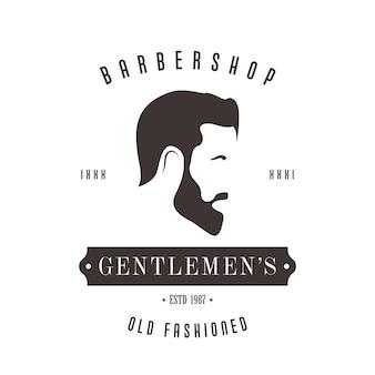 Vintage barbershop-logo voor uw ontwerp