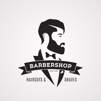 Vintage barbershop ontwerpsjabloon.