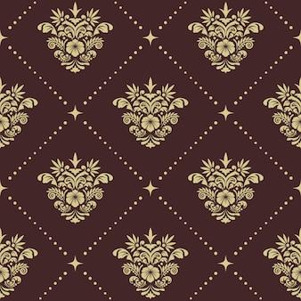 Vintage barok naadloos patroon. renaissance ornament voor zijden gordijnen,
