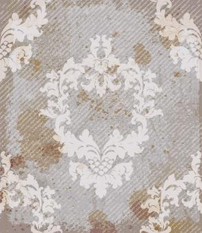 Vintage barokke patroon achtergrond
