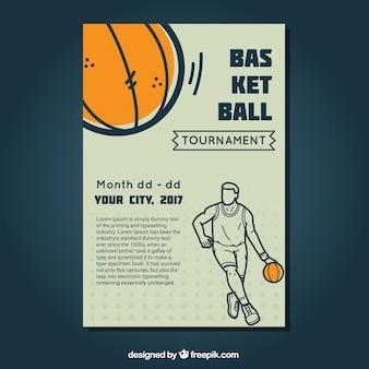 Vintage basketbal brochure