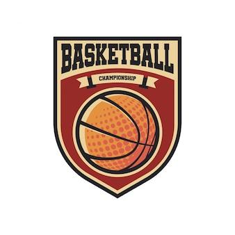 Vintage basketbal-logo