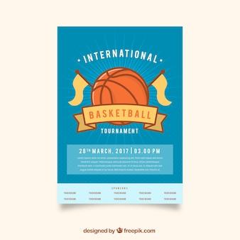 Vintage basketbaltoernooi internationale brochure