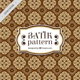 Vintage batik patroon