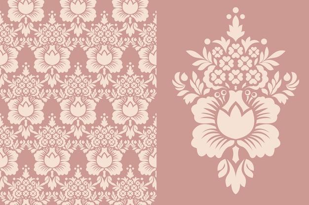 Vintage behang naadloos. oud koninklijk patroon.