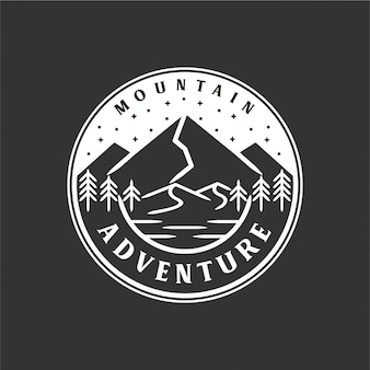 Vintage berg logo monogram stijl