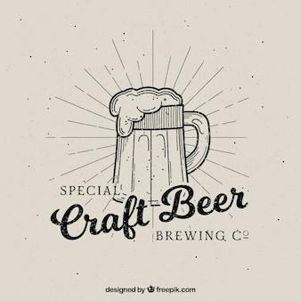Vintage bier backgrpund