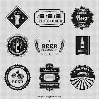 Vintage bier badges