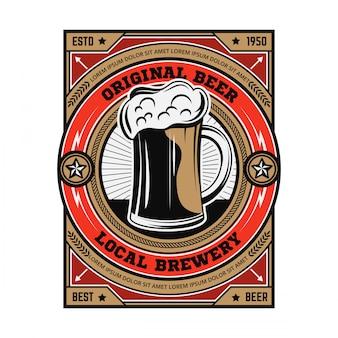 Vintage bier embleem