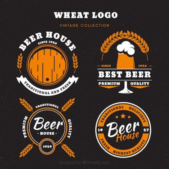 Vintage bier logo collectie