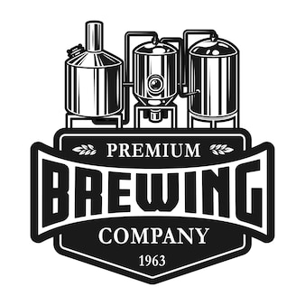 Vintage bier productie labelsjabloon