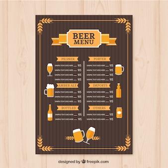 Vintage bieren menusjabloon
