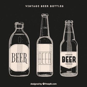 Vintage bierfles collectie