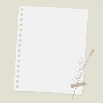 Vintage blad op oud bruin papier
