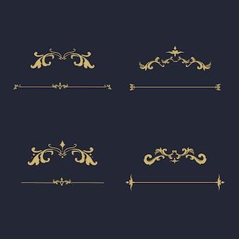 Vintage bloeien ornament frame vector
