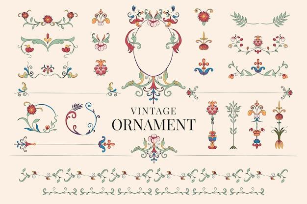 Vintage bloeien ornament illustratie