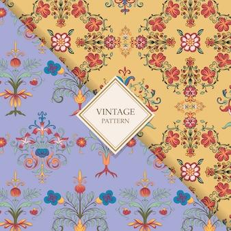 Vintage bloeien patronen
